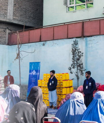 110 families Received Winter Package